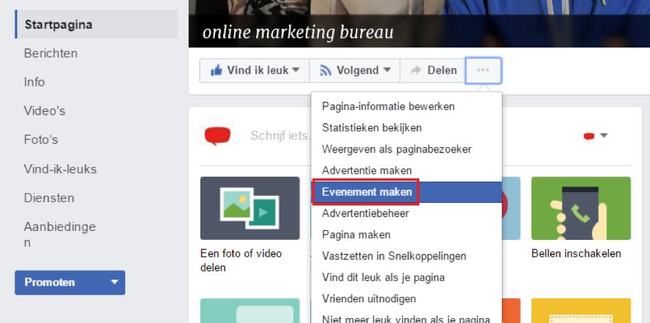 hoe Facebook evenement aanmaken
