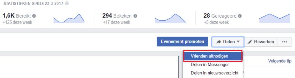 Hoe Facebook vrienden uitnodigen voor evenement